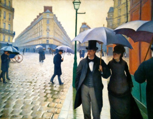 """Paris Street, Rainy Day"" by Gustave Caillebotte at Art Institute"